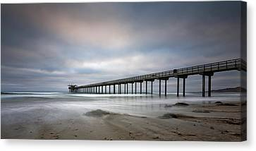 Scripps Pier Wide -lrg Print Canvas Print by Peter Tellone