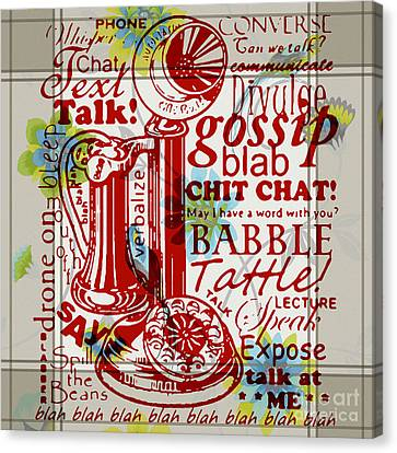Script Talk Play Canvas Print