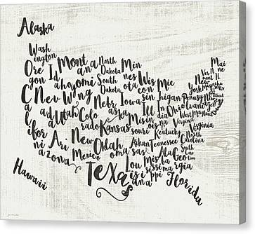 Scripted Map Canvas Print