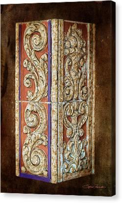 Scrolled Column Canvas Print