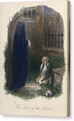 Scrooge Visited By The Last Ghost Canvas Print
