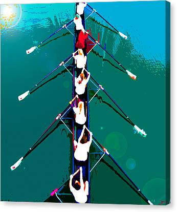 Rowing In The Sun Canvas Print