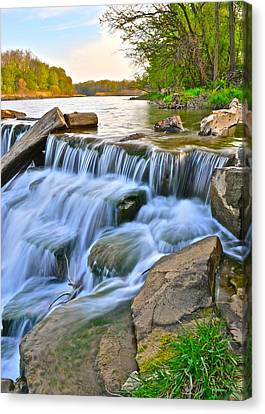 Sculpted Falls Canvas Print by Frozen in Time Fine Art Photography