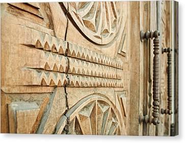 Sculpted Wooden Door Canvas Print