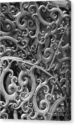 Sculpture Detail Vertical Bw Canvas Print by Barbara Bardzik