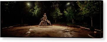 Sculpture In A Memorial, Vietnam Womens Canvas Print by Panoramic Images