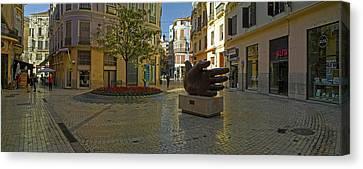 Malaga Canvas Print - Sculpture In Old Town, Malaga, Malaga by Panoramic Images