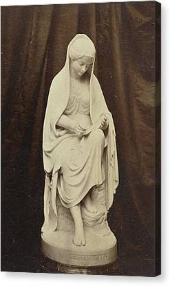 Sculpture Of Highland Mary, By Brodie, Exhibited Canvas Print