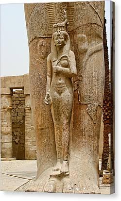 Pharaoh Canvas Print - Sculpture Of Pharaohs Wife by Linda Phelps
