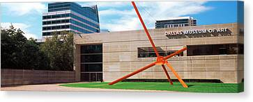 Sculpture Outside A Museum, Dallas Canvas Print by Panoramic Images