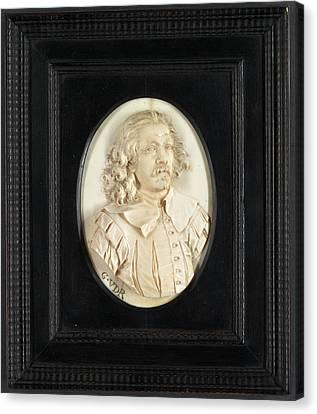Sculpture, Portrait Of A Man Canvas Print by Litz Collection