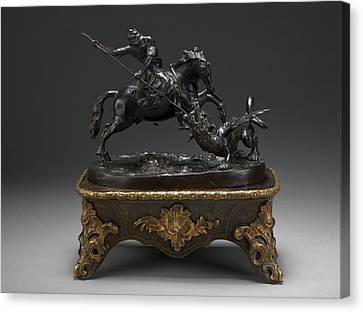 St George Canvas Print - Sculpture, St. George And The Dragon, Francesco Fanelli by Litz Collection