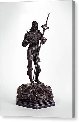 St George Canvas Print - Sculpture, St. George Saint George, Alfred Gilbert by Litz Collection