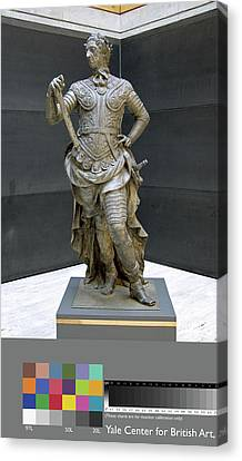 Sculpture, William IIi Inscribed On Rear Of Statue Canvas Print by Litz Collection