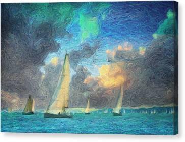 Scylla Canvas Print by Taylan Apukovska