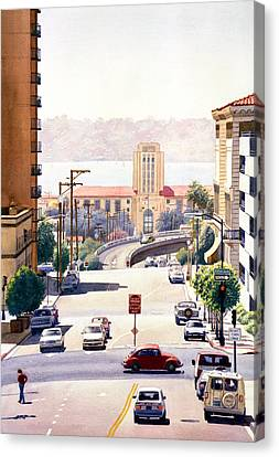 Sd County Administration Building Canvas Print by Mary Helmreich