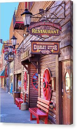 Sd, Deadwood, Main Street, Historic Canvas Print