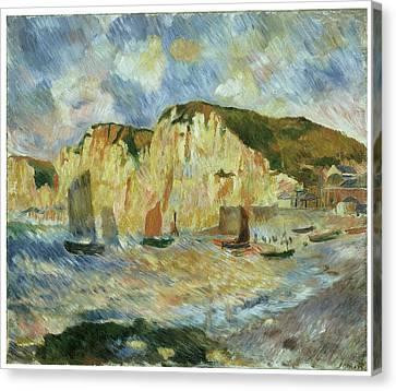 Sea And Cliffs Canvas Print by Pierre-Auguste Renoir