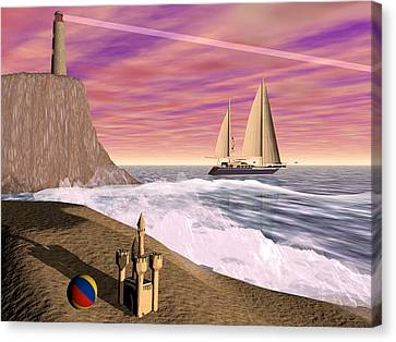 Sea And Sand Canvas Print