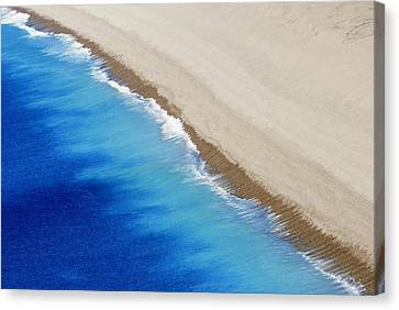 Canvas Print featuring the photograph Sea And Sand by Wendy Wilton