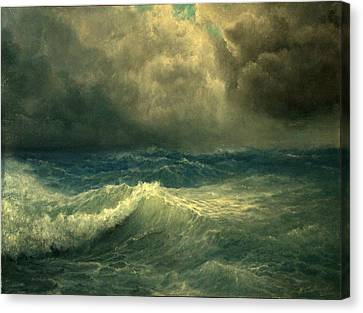 Canvas Print featuring the painting Sea And Sky by Mikhail Savchenko