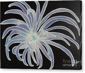 Canvas Print featuring the painting Sea Anemone by Dianna Lewis