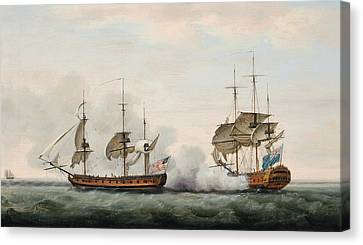 Sea Battle Canvas Print
