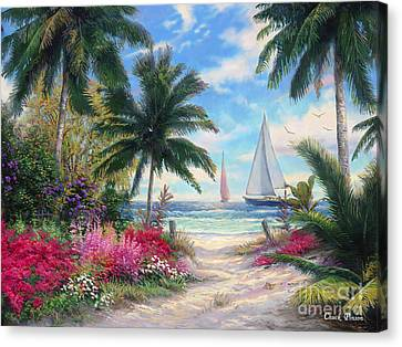 Art Sale Canvas Print - Sea Breeze Trail by Chuck Pinson