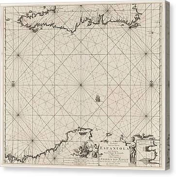Sea Chart Of Haiti, The Dominican Republic Canvas Print