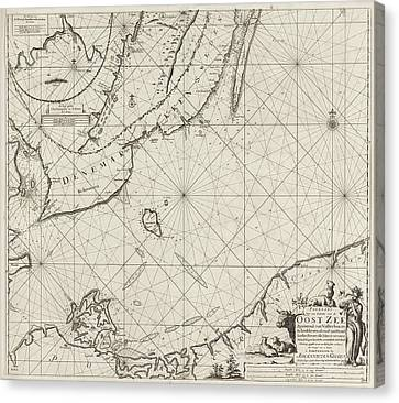 Sea Chart Of The Southern Part Of The Baltic Sea Canvas Print