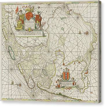 Sea Chart Of The Zuiderzee And The Wadden Sea Canvas Print