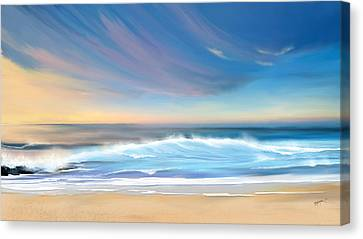 Sea Coast Escape Canvas Print by Anthony Fishburne