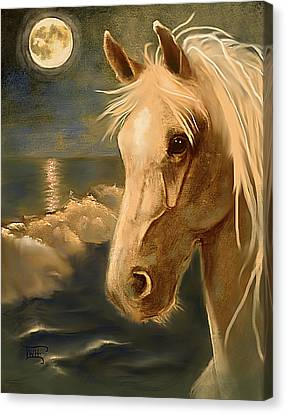 Canvas Print featuring the painting Sea Dream by Terry Webb Harshman
