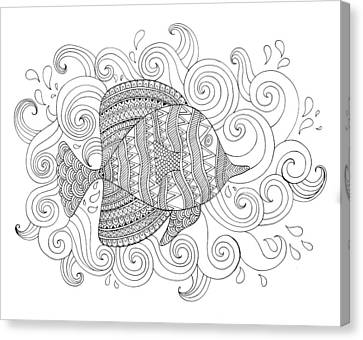 Sea Fish 1 Canvas Print