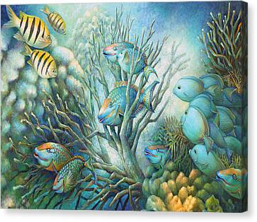 Sea Folk Canvas Print by Nancy Tilles