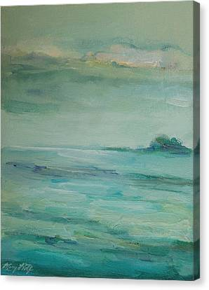 Canvas Print featuring the painting Sea Glass by Mary Wolf