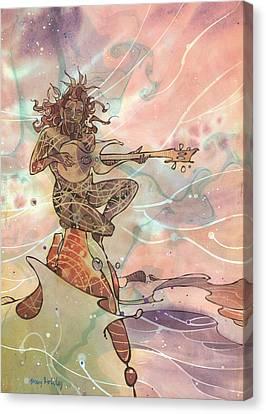 Sea God Guitarist Canvas Print