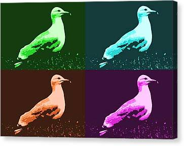 Canvas Print featuring the photograph Sea Gulls 4  by Al Fritz