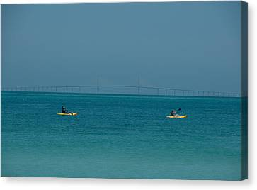 Sea Kayaking Canvas Print by Carolyn Dalessandro