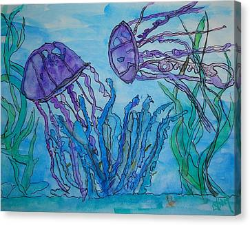 Sea Life Canvas Print by Diane Maley