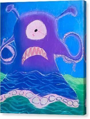 Monsterart Sludge Canvas Print by Joshua Maddison