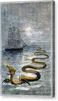 Folkloric Canvas Print - Sea Monster, Legendary Creature by Photo Researchers