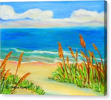 Sea Oat Path Canvas Print