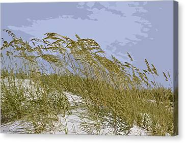 Canvas Print featuring the photograph Sea Oats by Kathy Ponce