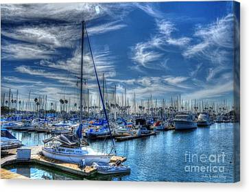 Sea Of Blue Canvas Print by Kevin Ashley
