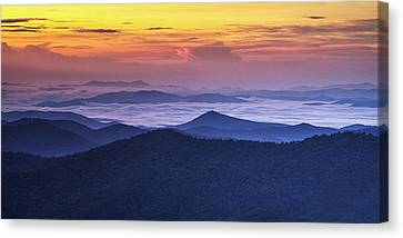 Sea Of Clouds At Sunrise Canvas Print by Andrew Soundarajan
