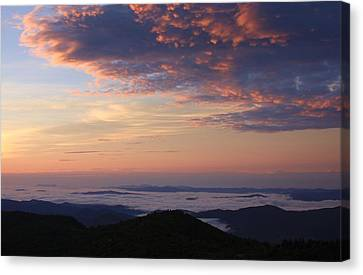 Sea Of Clouds Blue Ridge Mountains Canvas Print