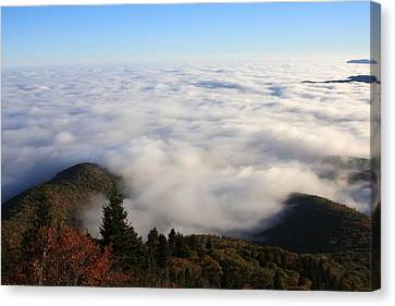 Canvas Print featuring the photograph Sea Of Clouds On The Blue Ridge Parkway by Mountains to the Sea Photo
