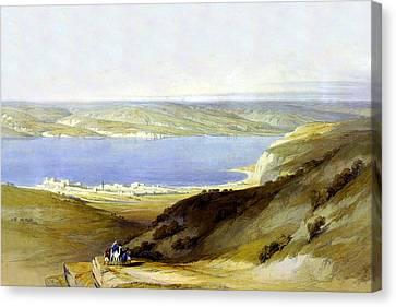 Sea Of Galilee Canvas Print by Munir Alawi