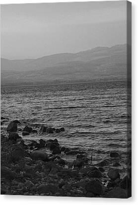 Gospel Of Matthew Canvas Print - Sea Of Galilee by Sandra Pena de Ortiz